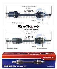 Ford Escort FWD ZX2 Coupe 98-03 2 Front CV Axle Shafts SurTrack Set Std. Transm.