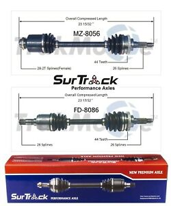 NEW For Ford Escort FWD ZX2 Coupe 98-03 2 Front CV Axle Shafts Set Std. Transm.