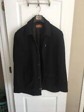 Wool and Cashmere Men's Enzo Peacoat Black Men's Jacket $500 Retail!!