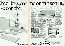 Publicité Advertising 019  1982   meubles suédois Ikea lits superposés ( 2pages)