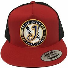 CHARROS DE JALISCO MEXICO HAT MESH TRUCKER RED BLACK SNAP BACK NEW HAT