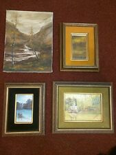 R.C Stanley Oil And Acrylic Canvas Paintings lot of 4/ American Artist/Nautical