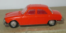 J old made in france 1966 micro norev oh 1/87 peugeot 204 orange #532