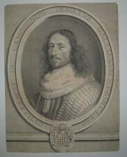 17ème Portrait de GUILLAUME DE LAMOIGNON Gravé par NANTEUIL en 1663 LOUIS XIV