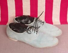 Vintage 1960s AMF Suede Leather Womens Bowling Shoes Light Blue Sz.10 Bowler