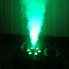 DJ Geyser Smoke 6LED Fog Machine 3IN1 DMX RGB Pyro Stage Vertical Upspray Fogger