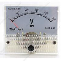 1×DC 500V Analog Panel Volt Voltage Meter Voltmeter Gauge 85C1 White 0-500V DC