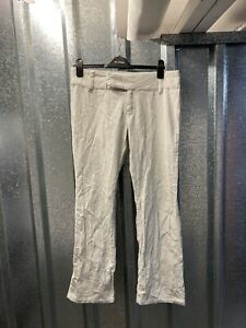 """Tommy Hilfiger Vintage White Womens Cord Jeans Boot Cut Trousers 33"""" Size 10"""