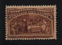 1893 Columbian Exposition 5c chocolate Sc 234 MLH CV $50