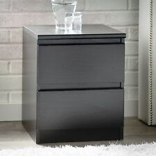 Nightstand With Drawers Bedside Table Black End Contemporary Bedroom Night Stand
