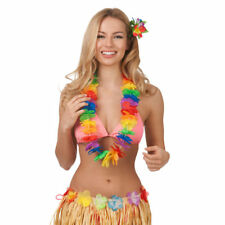 Wakiki Chica Hula Hawaiian Multicolor Lei Mujer Accesorio de Disfraz Aloha