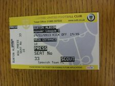 29/01/2013 Ticket: Oxford United v Burton Albion. Unless stated previously in th