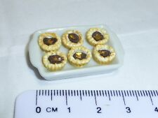1:12 Scale Jam Tarts on a Tray b  Doll House Miniatures