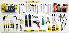 WallPeg  pegboard panels, shelves, bins, locking peg hooks for tool storage 72 W