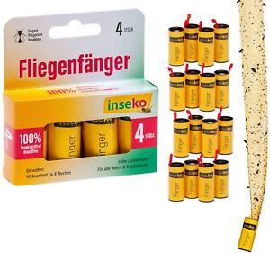 inseko 16 x Fliegenfalle I Premium Fliegenfänger I Fruchtfliegenfalle I giftfrei