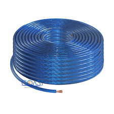 OFC Full Copper Fine Stranded 8 Gauge AWG Blue Power Ground Wire Cable - 100ft