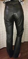 Vtg Women's size 0 High Waisted Leather Biker Pants perfect for Sturgis SD Rally