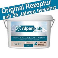Alpenkalk Premium Wohnraumfarbe, 7kg Kalkfarbe, wischfest, atmungsaktiv, innen
