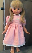 "VINTAGE GOTZ 18"" DOLL JESSICA W GERMANY VINYL/CLOTH NUMBERED GOTZ DRESS"