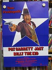 PAT GARRET JAGT BILLY THE KID Filmplakat Poster SAM PECKINPAH James Coburn 1972