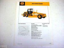John Deere 670 Motor Grader Sales Brochure !