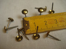 Clous de sellerie ou tapissier (100) en LAITON MASSIF Ø 6 mm, brass nails (Q1)