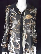 MIRACLE Womens Long Sleeve silky top size 12