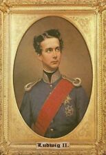Ludwig II König von Bayern Gemälde 1 Blechschild Schild Tin Sign 20 x 30 cm
