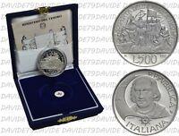 REPUBBLICA ITALIANA -  500 LIRE D'ARGENTO 1992 - SCOPERTA AMERICA 4°  - PROOF