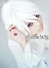 Death Note Near White Short 30CM Layered Anime Cosplay Wig + Wig Cap
