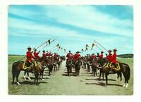 TROOP INSPECTION OF THE WORLD FAMOUS ROYAL CANADIAN MOUNTED POLICE RCMP POSTCARD