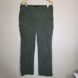 Women's 5.11 Tactical Series Army Green Ripstop Pants Size 10
