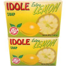 2 Pack Idole Extra Lemon Soap Skin Face Cleanser Jabon de Limon Piel Cara Cuerpo