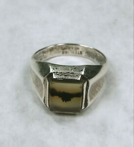 2 pieces 1 ring ARTY art deco ref122 old silver and 1 cab 20mm