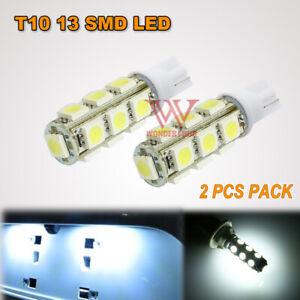 2 X T10 LED 13 5050 SMD LED PARKER LIGHTS/WEDGE LIGHTS -ULTRA BRIGHT WHITE-12V