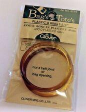 BAG'S & TOTE'S #6316-TORTOISE PLASTIC O RINGS-1 5/8