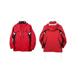 Girls Spyder Ski Snowboard Jacket Hooded Full Zip Nylon Red Size 20