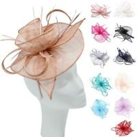 Fascinator Alice Headband Clip Feathers Hat Wedding Race Royal Ascot Head Piece