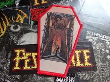 Sigh Coffin Shape Patch Black Metal Abigail Barbatos