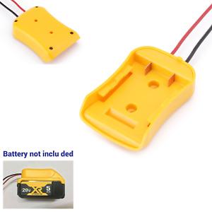 Adapter For Dewalt 18/20v Max Battery To Dock Power Connector 12AWG Robotics