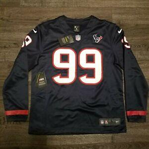 NIKE NFL Houston Texans JJ Watt Long Sleeve Therma Jersey Sweatshirt Mens LARGE