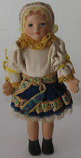 A doll in a Czech folk costume. 1970s. Free shipping.