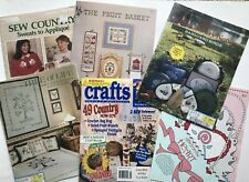 Lot Vintage Stencil Pattern Craft Books - Farmhouse Country Barnyard Hearts