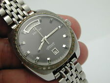VINTAGE 1960S RICOH 30 JEWELS AUTOMATIC  WATCH DATE  FRENCH HAS HALF BAND ONLY