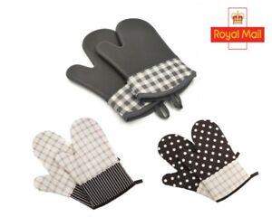 1 Pair Oven Gloves Kitchen Cooking Pot Holder Heat Resistant Baking