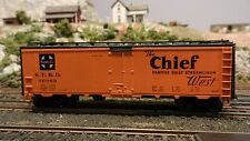 "Athearn Ho Bb 40' Reefer, Santa Fe "" Chief"", Upgraded, Exc."