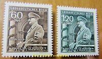 EBS Bohemia & Moravia 1944 - Hitler's 55th Birthday - Michel 136-137 MNH**