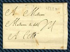 -= Lettre de LA ROCHELLE (Aunis) pour CETTE (Languedoc) - 1754 =-