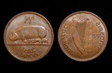 Pièces irlandaises: EIRE 1935 Demi Penny Pièce (Half penny/1/2d) extrêmement Fine (EF)