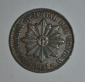 URUGUAY 5 Centesimos 1857 (((3274